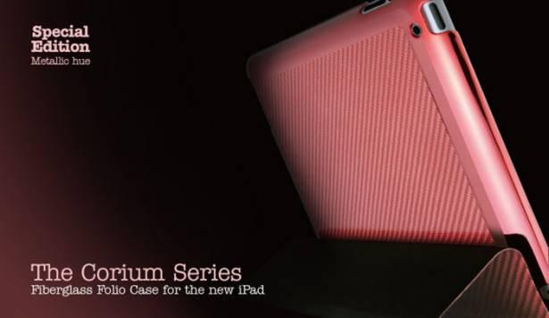 new iPad-特別版-玻纖對開保護套-赭紅色