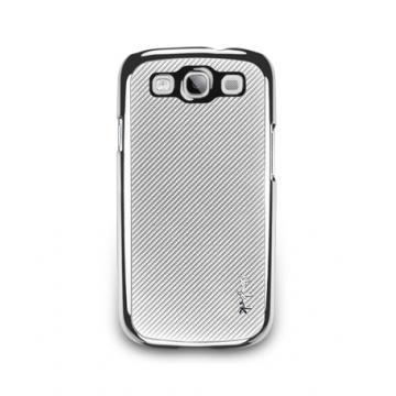 Galaxy S3-玻纖保護背蓋-亮銀