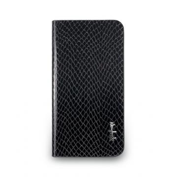 iPhone5/5s- Python Series- 蛇皮壓紋皮套-碳黑色