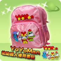 YoYoMan-幼幼超人後背書包 粉紅色