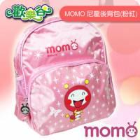 MOMO-歡樂谷毛毛蟲尼龍後背包 粉紅