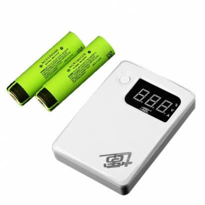 七電18650高效能四節行動電源盒搭Panasonic-18650電池3400mAhX4