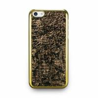 iPhone 5c- 星燦壓紋背蓋- 香檳金