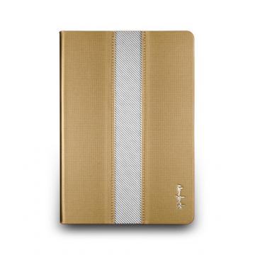 iPad mini Retina- 方格壓紋站立式保護套- 霧金色