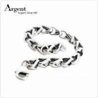 【ARGENT銀飾】潮流系列「愛的枷鎖」 純銀手鍊 染黑款