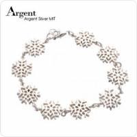 【ARGENT銀飾】聖誕系列「雪花 大 」純銀手鍊