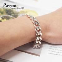 【ARGENT銀飾】手工鍊系列「扁鍊 粗 」純銀手鍊