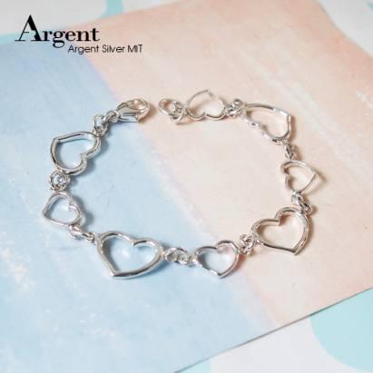 【ARGENT銀飾】愛心系列「愛心」純銀手鍊