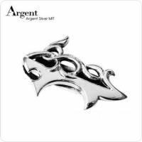 【ARGENT銀飾】配件系列「鯊紋」純銀鈔票夾 染黑款