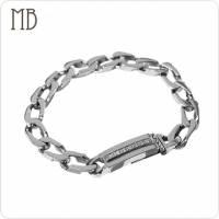 【MB流行鋼飾】造型系列「時尚 粗 」白鋼手鍊
