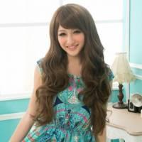 【MA106】微斜劉海大波浪韓系長捲髮