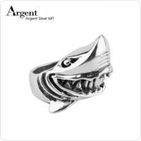 【ARGENT銀飾】動物系列「銀鯊」 純銀戒指 染黑款