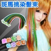 耐熱材質可上電棒 印地安彩色髮束【MF007】斑馬挑染髮束