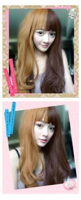 【MA129】原宿風日系雙色長捲髮