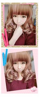 【MX054】挑染甜心誘惑梨花款中捲髮