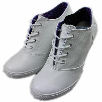 2014春夏新款 Burnetie女款 皮革高根鞋(白色)