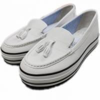 2014春夏新款 Burnetie女款 厚底娃娃鞋 白色