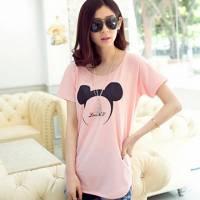 時尚伊人 韓版寬鬆可愛動物耳朵印花短袖T恤-S M L
