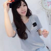 時尚伊人 韓版學院風簡約寬鬆T恤-M