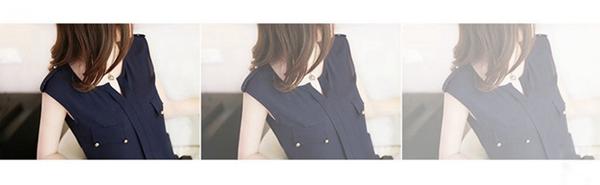 時尚伊人 韓版釘珠甜美寬鬆雪紡上衣-S/M/L