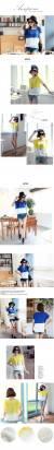 時尚伊人 韓版拼接寬鬆圓領蕾絲短袖雪紡上衣-M