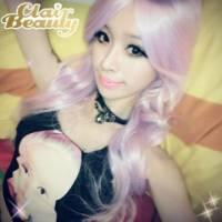 【MA147】薰衣草紫角色扮演大斜分長捲髮