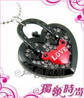 愛心手提包晶鑽項鍊