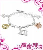 羅馬數字三色金手鍊