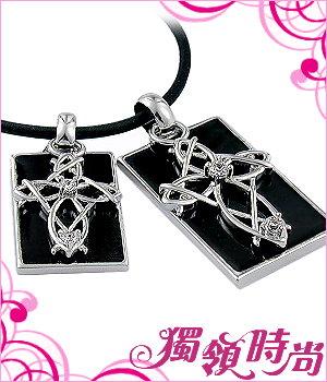 纏綿十字架銀白K對鍊