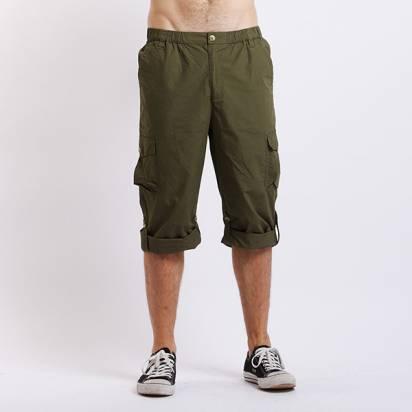 Bés Carol  男式脚口可翻折長褲 (橄欖綠)