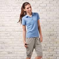 Bés Carol 女式基本款短袖POLO衫 螢光藍