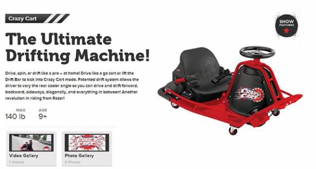 買台Crazy Cart卡丁車,體驗電影裡的「甩尾」快感!