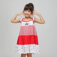 CHEROKEE 女童多色拼接細肩帶小洋裝 紅