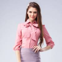 121゜E 領帶襯衫 粉紅