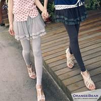 『【午餐特賣會】芭蕾女孩~假兩件浪漫網紗裙接棉質內搭褲‧3色』