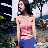 『【午餐特賣會】迷人甜心~韓版細肩圓點點亮彩棉質背心‧5色』