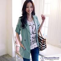 『0524新品 質感呈現~雙排釦縮腰長版風衣外套.3色』