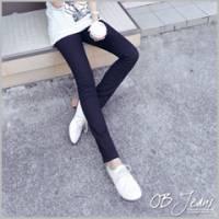 『0409新品 原色主打~帥氣酷感嚴選黑色彈性牛仔直筒褲』