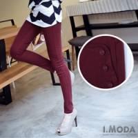 『0809新品 潮流宣言~釦式假口袋造型彈性小腳丹寧窄管褲‧5色』