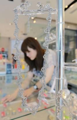 鑽石恆久遠…不好意思,現在流行的是DNA項鍊和化學式耳環