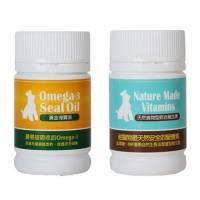 【保健優惠】鮮食狗 懷孕犬營養補充 百益康《黃金海寶油+食物型維生素》