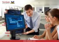 ViewSonic 人體工學商用顯示器系列 讓企業再創高峰