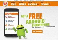 除了美式速食之外,漢堡王也動智慧型手機腦筋了,開始販售綁約的免費手機