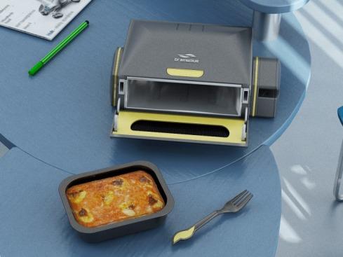 不用搶茶水間的微波爐了,單人專屬孤單加熱器