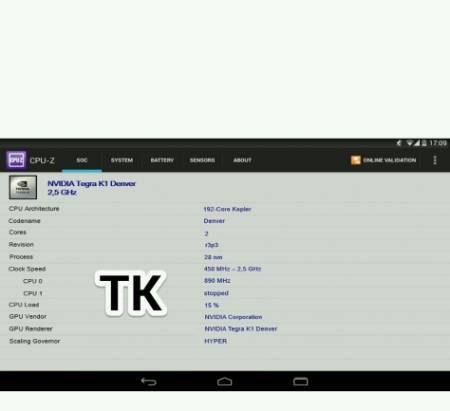 CPU-Z 資訊透露 Nexus 9 將搭載 NVIDIA 雙 Denver 核心的 64bit Tegra K1 處理器