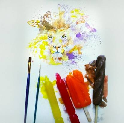 夏天 x 食物 x 藝術=新奇的冰棒繪畫藝術