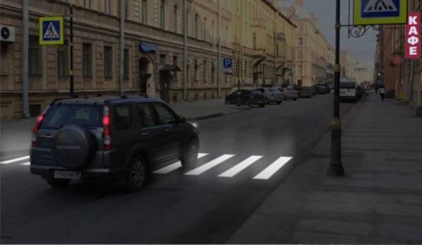 新設計斑馬線 行人走過即亮紅燈