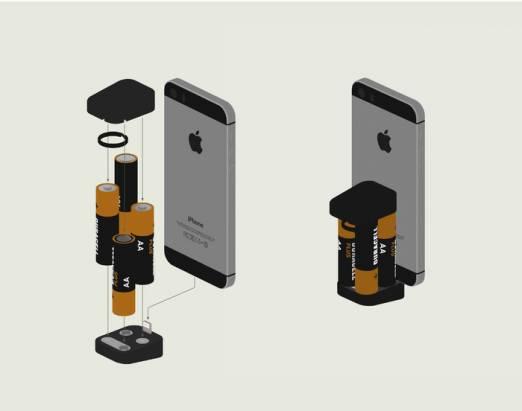 實在有夠小的電池版迷你充電器
