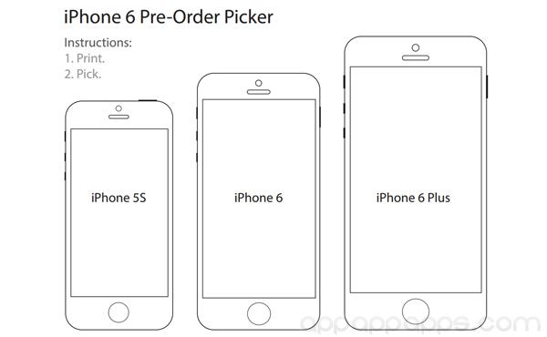 選 iPhone 6 還是 iPhone 6 Plus? 印出來比較一下 [下載]