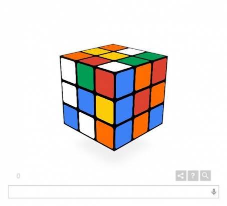 歡慶魔術方塊(Rubik's Cube)四十歲,Google 讓你在 Doodle 上面玩!